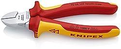 KNIPEX 70 06 160 Seitenschneider, präzises Schneiden bis Ø 4,0 mm, isoliert und VDE-geprüft, 160 mm