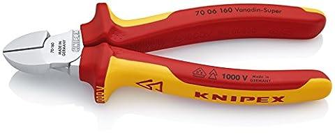 Knipex Pince coupante de côté 70 06 160 Coupe jusqu'à Ø 4,0 mm, isolée et homologuée VDE, 160 mm