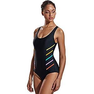 DELIMIRA Donna Costume da Bagno Scollo Rotondo Spalline Larghe 11 spesavip