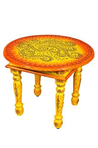 Marrakech Accessoires Chajra - Mesa de madera para salón (60 cm ...