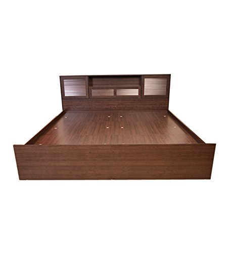 HomeTown Bali Queen Bed with Super Storage (Matt Finish, Wenge)