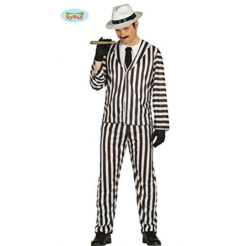 20er Jahre Geist Halloween Gangster Herren Kostüm M/L, Größe:L