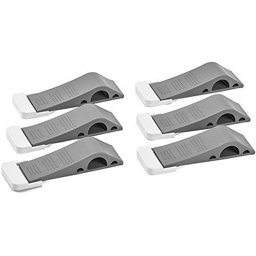 MIRACASE Gummi Tür Stopper | Premium Heavy Duty Tür Stop | 6Pack Grau Keil (Outdoor-eintrag Möbel)