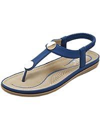 Sandali blu con allacciatura elasticizzata per donna Gracosy