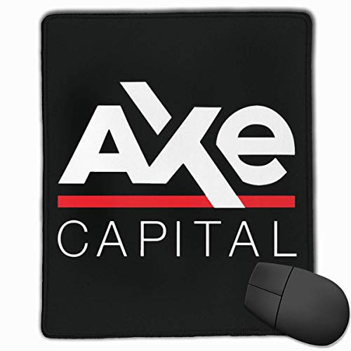 Edge Axe (Axe Capital Logo Rectangle Non-Slip Rubber Mouse Pad with Stitched Edges)