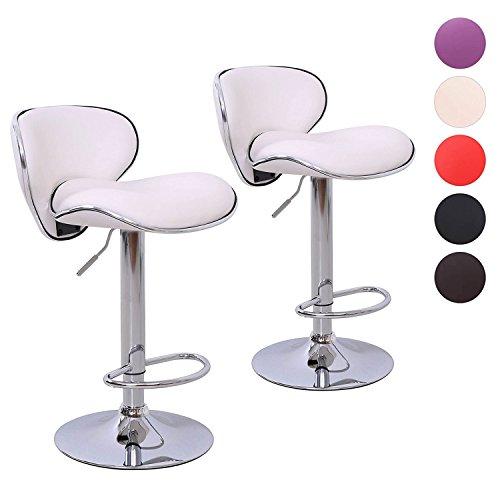 2er Set Barhocker Lounge Hocker Barstuhl Küchenhocker Tresenhocker Farbwahl (weiß)