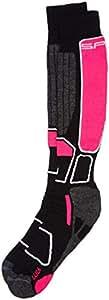 SPAIO Chaussettes Unisexe Thermo Ski Power, Noir/Rose, 44-46