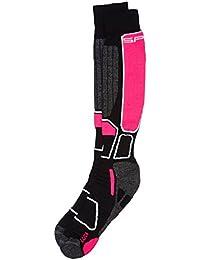 Spaio Calcetines Unisex Thermo Ski Power, Negro/color de rosa, 38-40