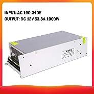 Festnight 220V to DC 12V 83.3A 1000W Voltage Transformer Regulated Switching Power-Supplys Adapter Converter f