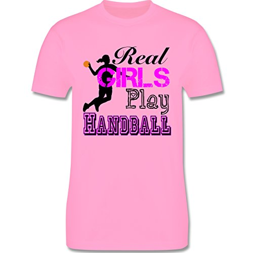 Handball - Real Girls Play Handball - Herren Premium T-Shirt Rosa