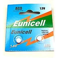 Eunicell AG0 Alkaline 1.5 V Button Cell Battery - Blister Pack of 2