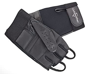 Ability Superstore Wheelchair Open Finger Leather Gloves