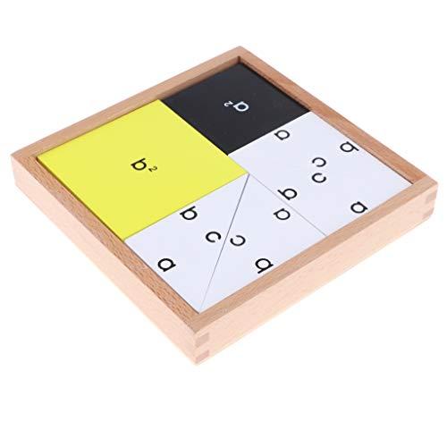 KESOTO Juguete Montessori Caja de Teorema de Pitágoras de Madera Juego de Educación Temprana para Niños