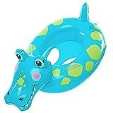 DEMU Baby Schwimmring Schwimmhilfe Kinder Schwimmbad Schwimmreifen Aufblasbar Schwimmboot Krokodil
