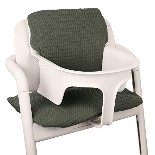 Baby Sitzkissen Sitzverkleinerer für Cybex Lemo Hochstuhl von UKJE Grün Waffelpique Praktisch und dick gepolstert Maschinenwaschbar 2-teilig Öko-Tex Baumwolle Recycelbar