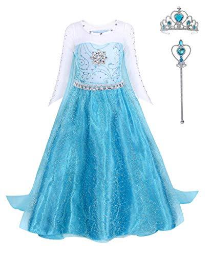 FONLAM Disfraz de Princesa Vestido Largo Fiesta Niña Ceremonia Vestido Infantil Cumpleaños...