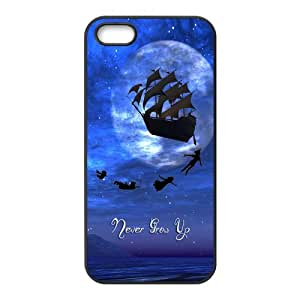 DIY Case Disney Cartoons Peter Pan Cute Kind iPhone 5 5s Case Cover ,Plastic Hard Back Cases Gift Idea at 007Fashion Boutique