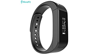 MevoFit Drive - Fitness Band & Activity Tracker by MevoFit (USA) - The Smart Watch with Water Proof & Scratch Proof Touch Display Screen with Large Wireless Display with Steps, Running, Sports, Sleep, Calories Tracker, Camera Click Shortcut & Anti-Lost (Find My Phone) with the most advanced Fitness App - MevoFit for Fitness Tracking for Android & iOS by MevoFit USA