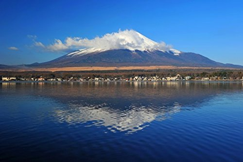 Digitaldruck / Poster Hady Khandani - MOUNT FUJI - YAMANAKA LAKE - JAPAN 4 - 164 x 110cm - Premiumqualität - HADYPHOTO, Fotografie - MADE IN GERMANY - ART-GALERIE-SHOPde (Lake Yamanaka Mount Fuji Japan)
