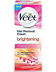 Veet Hair Removal Cream, Brightening - Normal to Dry Skin, 25 g