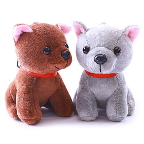pittospwer Weicher Tierhund Weicher Plüsch Gefüllte Puppe Schlüsselring Schlüsselbund Anhänger Random Color