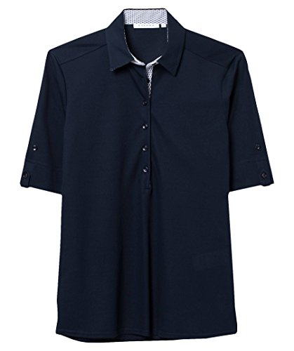 eterna Poloshirt Modern Classic Unifarben Marine