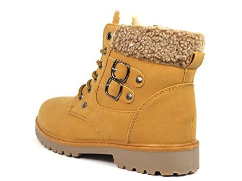 Damen Chukka Boots warm gefüttert BL01 & BL02 Camel BL02