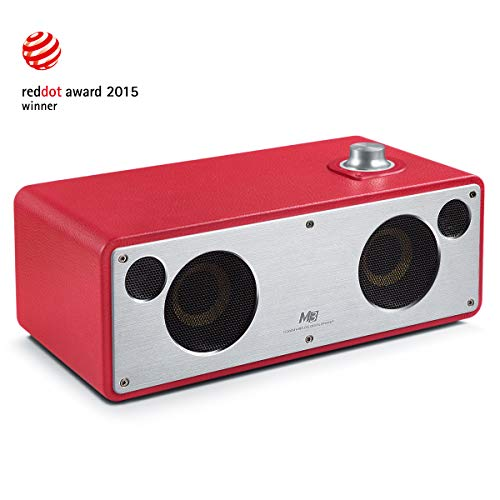 GGMM M3 Retro Altoparlante senza Fili, Wi-Fi/Bluetooth Speaker Stereo con Uscita 40W, Multi-Room Play, Airplay, DLNA, Spotify, iHeart Radio Streaming di Musica i Dispositivi Intelligenti(Rosa)