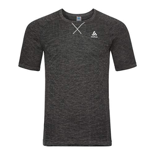 Odlo BL Top Crew Neck S/S Blackcomb Light Shirt, Herren S schwarz/grau (Black/Steel Grey) Preisvergleich