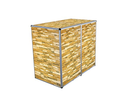 ToPaBox Mülltonnenbox, Steinwand, 80 X 141 X 122 Cm, 4251260905888