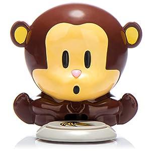 com-four® Secador de uñas Secador de uñas Monkey en un Divertido diseño de Mono pequeño, pequeñas coletas para uñas (1 Pieza)