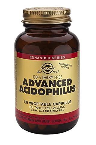 Solgar Advanced Acidophilus Vegetable Capsules - 100 Capsules