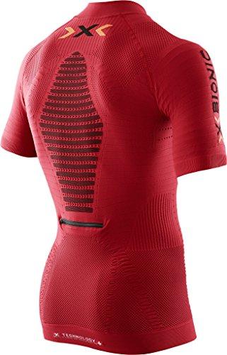 X Bionic Trail Running Effektor Ow Sh_sl Zip-Up, Maglia Uomo Paprika/Nero