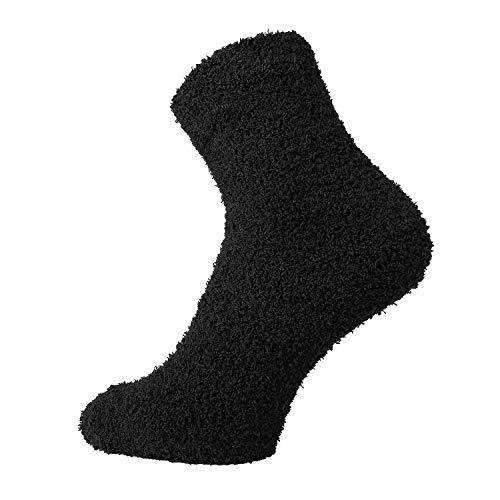 TippTexx 24 Kuschel Socken für die ganze Familie, 2 Paar (Schwarz-2178, 42/47)