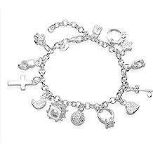 Luxus pulsera para mujer regalo colgante 925 plata silberkanne diámetro 60 mm