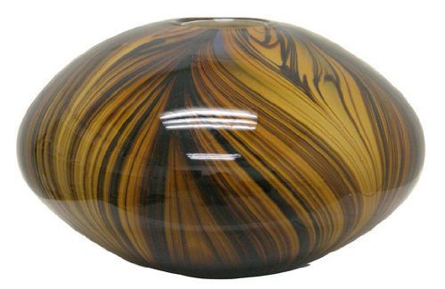 Renaissance 2000 Deko-Glas Vase, 23,9cm von 15cm von 23,9cm von 15cm, braun