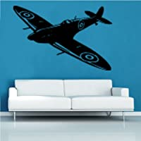 Kult Kanvas Spitfire Aviation Airplane aeroplane Decal Vinyl Wall Sticker Art Kids Room Boys Girls Décor 60cm x 91cm