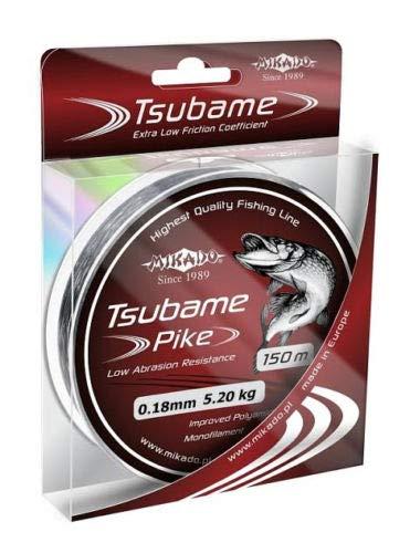 Mikado Angelschnur TSUBAME Pike monofile Hecht 0,16-0,34mm Spule 150m (0,18mm/5,20kg)