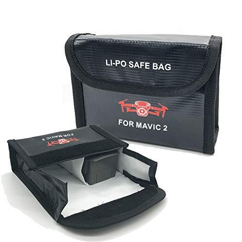Linghuang Mavic 2 Lipo Akku Tasche Schutz Tasche für DJI Mavic 2 Pro/Zoom, Drohne Batterien Zubehör Explosionsgeschützte Safe Storage Bag (L) -