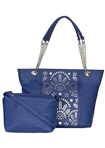ADISA AD4004 blue women handbag with sling bag combo