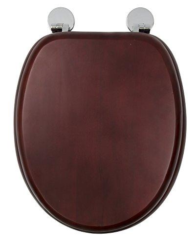 Croydex–davos always fits never slips sedile wc, legno, effetto mogano, 43x 36.5x 6cm