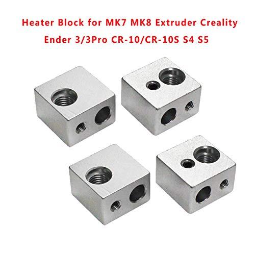 HICTOP Bloque de calefacción para impresora 3D M6 para extrusor MK7 MK8 Makerbot Medel I3