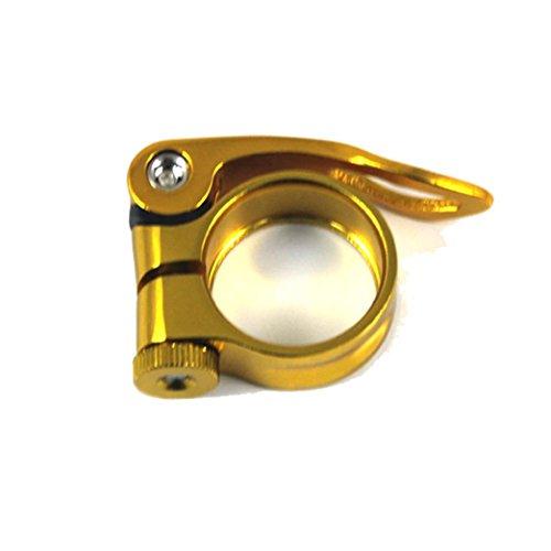 Hunpta 31,8 mm MTB Bike Fahrrad Rad Sattel Sattelrohrschelle Schnellspanner Stil (Gold)