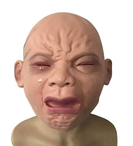 HongTeng Weinende Baby Maske Halloween Bar Zimmer Spukhaus Horror Maske für Erwachsene