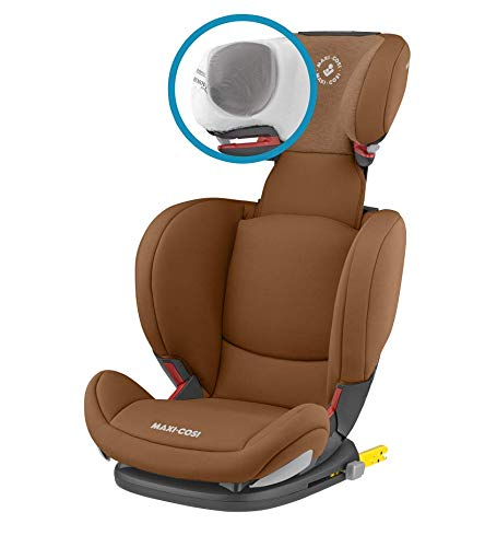 Maxi-Cosi RodiFix AirProtect Child Car Seat, Isofix Booster Seat, Cognac, 15-36 kg Maxi-Cosi Booster car seat for children from 15-36 kg (3.5 to 12 years) Grows along with your child thanks to the easy headrest and backrest adjustment from the top Patented air protect technology for extra protection of child's head 10