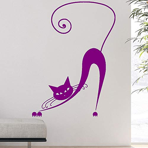 jiushizq Cartoon Gatti Adesivo murale Animali Domestici Adesivi murali Camera da Letto Decorazioni per la casa Romantica Art Decal 7 56X76cm