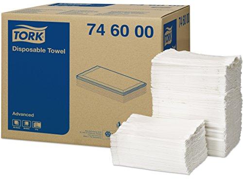 Tork 746000 Schutztuch Advanced 5-lagig / weiche Tücher zum Schutz und zur Absorption von Flüssigkeiten / saugfähig & effizient / 1 x 250 Tücher (70 x 30 cm)