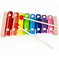 ثمانية لهجة إكسيليفون - التعليم في مرحلة الطفولة المبكرة للأطفال ألعاب خشبية للأطفال إكسيليفون الآلات الإيقاعية