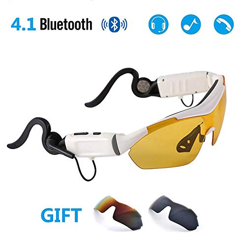 BJYG Kabellose Sonnenbrille Bluetooth-Sonnenbrille Music Handfree Headset, Anti-Glare Driver Eyewear, Geeignet für die meisten Smartphones. - Läufer Headset