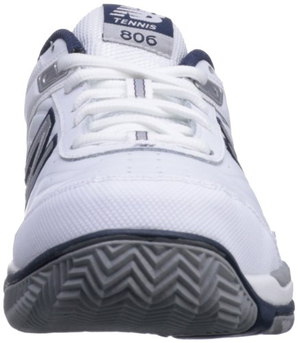 New Balance Men's MC806 Tennis Shoe,White,10.5 B US (White with Navy)